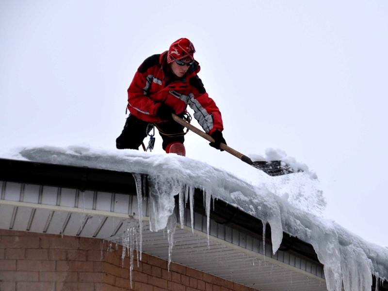 Описание работ по уборке снега с крыш